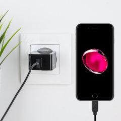 Chargez votre iPhone 7 Plus et tout autre appareil USB rapidement et en toute simplicité grâce à ce chargeur secteur 2.4A haute puissance compatible Lightning. Ce chargeur secteur EU est également fourni avec un câble Lightning.