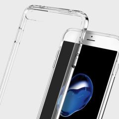 Proteja su iPhone 7 Plus con esta funda única Ultra Hybrid fabricada por Spigen. La funda Spigen Ultra Hybrid protegerá los laterales y la parte trasera contra pequeños golpes y arañazos.