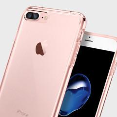 Spigen Ultra Hybrid iPhone 7 Plus Bumper Case - Rose Crystal