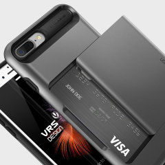 VRS Design Damda Glide iPhone 7 Plus Hülle in Stahl Silber