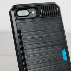 Zizo Metallic Hybrid Card Slot iPhone 7 Plus Case - Black