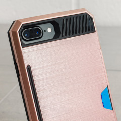 Zizo Metallic Hybrid Card Slot iPhone 7 Plus Hülle in Rosa Gold