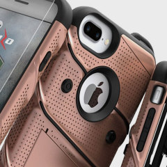Equip your Apple iPhone 7 Plus with military grade protection and superb functionality with the ultra-rugged Bolt case in rose gold from Zizo. Coming complete with a handy belt clip and integrated kickstand.