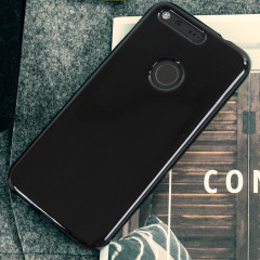 Custom moulded for the Google Pixel, this black Olixar FlexiShield case provides slim fitting and durable protection against damage.