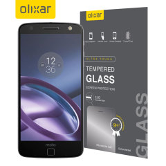 This Olixar ultra-thin tempered glass screen protector for the Motorola Moto Z Play offers toughness, high visibility and sensitivity all in one package.