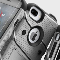 Equip your Apple iPhone 7 Plus with military grade protection and superb functionality with the ultra-rugged Bolt case in grey and black from Zizo. Coming complete with a handy belt clip and integrated kickstand.
