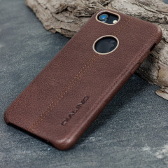 Premium Genuine Leather iPhone 7 Case - Brown