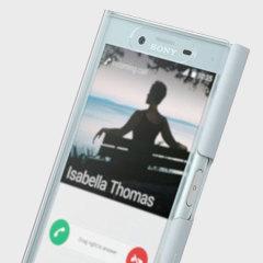 Original Sony Xperia X Compact Style Tasche Touch Case Mist Blau