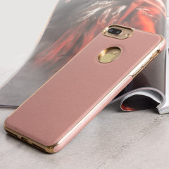 Olixar FlexiLeather iPhone 7 Plus Hülle in Rose Gold