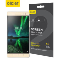 Keep your Lenovo Phab 2 Pro's screen in pristine condition with this Olixar scratch-resistant screen protector 2-in-1 pack.