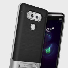 Protect your LG V20 with this precisely designed high pro shield series case in Satin Silver from VRS Design. Made with tough dual-layered yet slim material, this hardshell body with a sleek bumper features an attractive two-tone finish.
