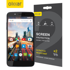 Keep your Archos 55 Helium 4 Seasons screen in pristine condition with this Olixar scratch-resistant screen protector 2-in-1 pack.