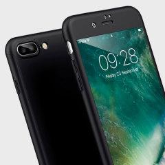Olixar X-Trio Full Cover iPhone 7 Plus Case Hülle Schwarz
