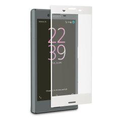 Roxfit Sony Xperia X Compact Tempered Glas Displayschutz Weiß