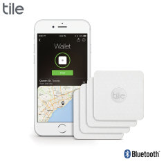 Tile Slim Bluetooth Tracker Device - Four Pack - White