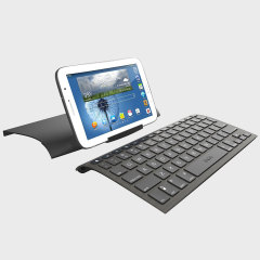The Zagg Universal Bluetooth Keyboard is ultra-slim and light wireless keyboard, compatible with iOS, Android and Windows smartphones & tablets - that is portable and features a built-in stand.