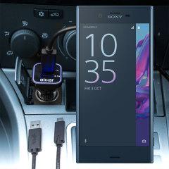 Gardez votre Sony Xperia XZ chargé au maximum lors de vos déplacements grâce à ce Chargeur Voiture High Power 2 ports USB d'une puissance de 3.1A de chez Olixar. Câble USB-C de chargement de grande qualité inclus.