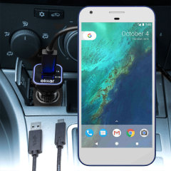 Keep your Google Pixel XL fully charged on the road with this compatible Olixar high power dual USB 3.1A Car Charger with an included high quality USB to USB-C charging cable.