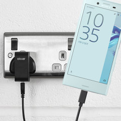 Charge your Sony Xperia X Compact and any other USB device quickly and conveniently with this compatible 2.4A high power USB-C UK charging kit. Featuring a UK wall adapter and USB-C cable.