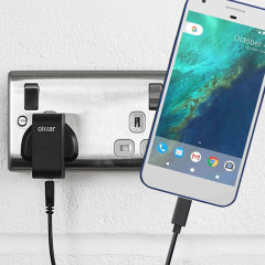 Charge your Google Pixel and any other USB device quickly and conveniently with this compatible 2.5A high power USB-C UK charging kit. Featuring a UK wall adapter and USB-C cable.