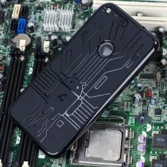 Cruzerlite Bugdroid Circuit Google Pixel Hülle in Schwarz
