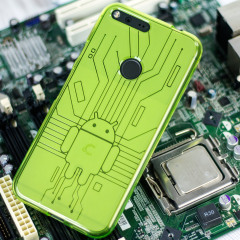 Cruzerlite Bugdroid Circuit Google Pixel XL Hülle in Grün