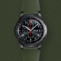 Treat your brand new Gear S3 smartwatch with the ultra-high quality Active Silicon strap in khaki. Comfortable, durable and stylish, this strap is the perfect way to personalise your Gear S3. Size M.