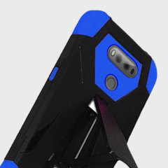 Equip your LG V20 with military grade protection and superb functionality with the ultra-rugged Hybrid Turbo case in blue and black from Zizo. Coming complete with a handy kickstand for viewing media in both portrait and landscape.
