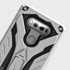 Zizo Static Series LG V20 Tough Case & Kickstand - Silver / Black