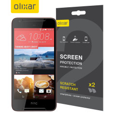 Keep your HTC Desire 628 screen in pristine condition with this Olixar scratch-resistant screen protector 2-in-1 pack.