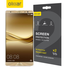 Keep your Huawei Mate 9's screen in pristine condition with this Olixar scratch-resistant screen protector 2-in-1 pack.