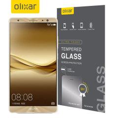 Deze ultra-dunne gehard glas screen protector voor de Huawei Mate 9 door Olixar biedt taaiheid, hoge zichtbaarheid en gevoeligheid alles in een pakket.