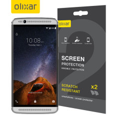 Keep your ZTE Axon 7 Mini's screen in pristine condition with this Olixar scratch-resistant screen protector 2-in-1 pack.