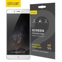 Keep your ZTE Nubia Z11's screen in pristine condition with this Olixar scratch-resistant screen protector 2-in-1 pack.