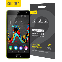 Keep your Wiko U Feel's screen in pristine condition with this Olixar scratch-resistant screen protector 2-in-1 pack.