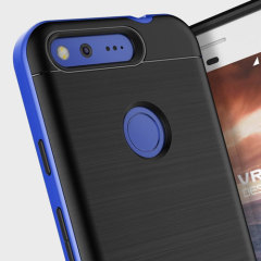 Protect your Google Pixel with this precisely designed high pro shield series case in really blue from VRS Design. Made with tough dual-layered yet slim material, this hardshell body with a sleek bumper features an attractive two-tone finish.