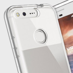 Protect your Google Pixel with this precisely designed crystal/light silver case from VRS Design. Made with a sturdy yet minimalist design, this see-through case offers protection for your phone while still revealing the beauty within.