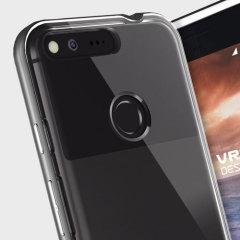 VRS Design Crystal Bumper Google Pixel XL Hülle Dunkel Silber