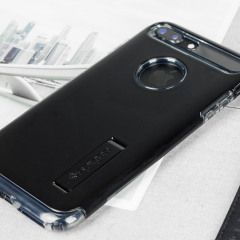 Spigen Slim Armor iPhone 7 Plus Tough Case Hülle Jet Schwarz
