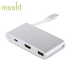 Verbind meerdere apparaten met je USB-C laptop met de Moshi USB-C MultiPort Adapter. Bekijk media op een extern display via de HDMI poort of laad en synchroniseer USB apparaten met de ingebouwde USB 3.1 en USB-C slots.