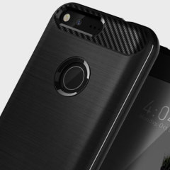Protect your Google Pixel with this stunning rugged dual-layered shell case in matte black. Made with tough dual-layered yet slim material, this TPU body with a sleek metallic outer layer features an attractive two-tone finish.