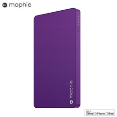 Keep your devices charged throughout the day with the Mophie Powerstation Mini in purple. This power bank's 3,000mAh capacity provides one full charge for almost any smartphone, while its standard USB port ensures compatibility with a range of devices.