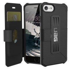 Equip your iPhone 8 / 7 with extreme, military-grade protection and storage for cards with the Metropolis Rugged Wallet case in black from UAG. Impact and water resistant this is the ideal way of protecting your phone and providing card storage.