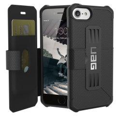 UAG Metropolis Rugged iPhone 7 Wallet Case - Black