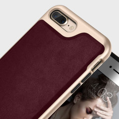 Caseology Envoy Series iPhone 7 Plus Hülle Leder Cherry Oak
