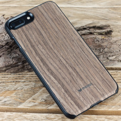 Mozo iPhone 7 Plus Hülle Holz Back Cover Black Walnut