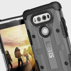 The Urban Armour Gear Plasma semi-transparent tough case in Ash grey and black for the LG V20 features a protective case with a brushed metal UAG logo insert for an amazing rugged and stylish design.