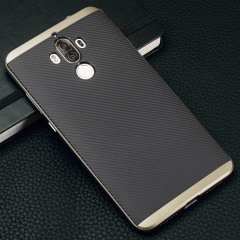 Olixar X-Duo Huawei Mate 9 Hülle in Carbon Fibre Gold