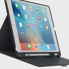 Provide sophisticated protection for your iPad Pro 12.9 2015 with the StyleFolio Pencil case in black from Speck. Complete with a clever Apple Pencil holder, multi-angle viewing stand and secure closure system.