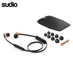 Developed from the VASA range, Sudio have removed the wired connection to create the VASA BLA Earphones in black and rose gold. Featuring a Bluetooth connection, these elegant earphones are perfect for hands-free calling and to enjoy your music on the go.